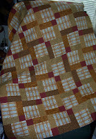Disappearing Nine Patch quilt top made for the Underground Railroad