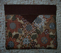 little brown print bag