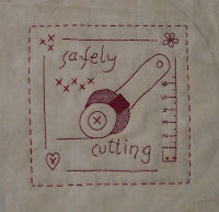 October block of the month stitchery from Bea
