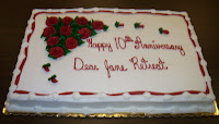 10th Year Anniversary Cake for Dear Jane Retreats