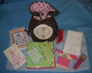 Items received from the Polka Dot and Rick Rack Swap mentioned in the text