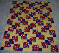 another Disappearing nine patch quilt top made at the retreat