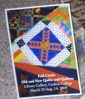 Goshen quilt exhibit flyer