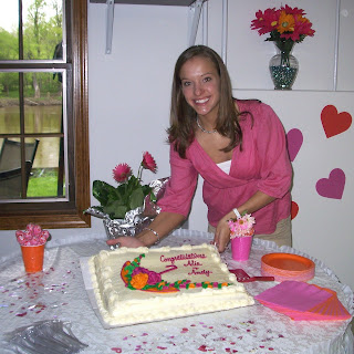 Alie and her cake