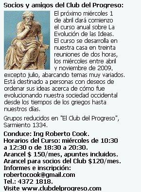 Curso anual sobre La Evolución de las Ideas