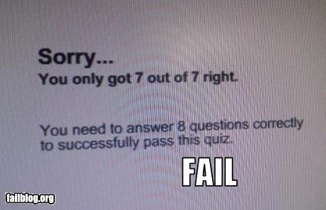 Fail quiz