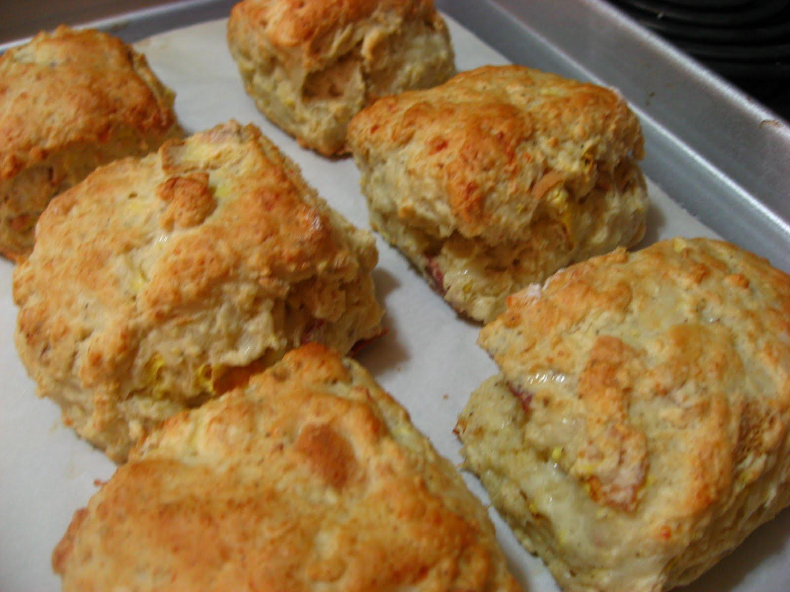 Bacon, Egg, And Cheddar Scones Recipe — Dishmaps