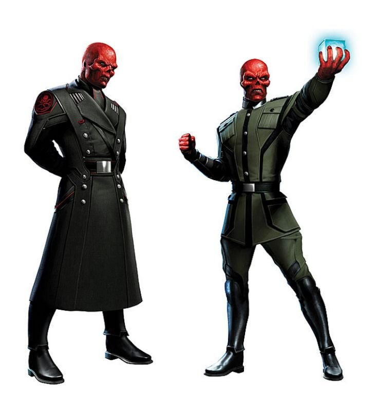 Red Skull Captain America Art