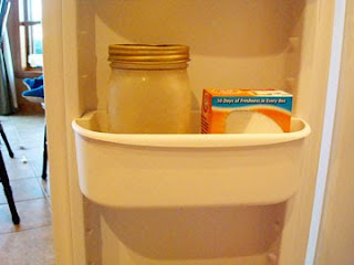 yeast and baking soda in a freezer shelf