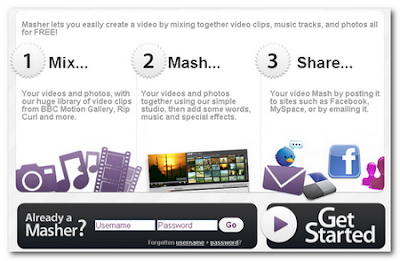 Masher, mixar videos online con fotos