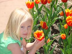 Alexis in the garden