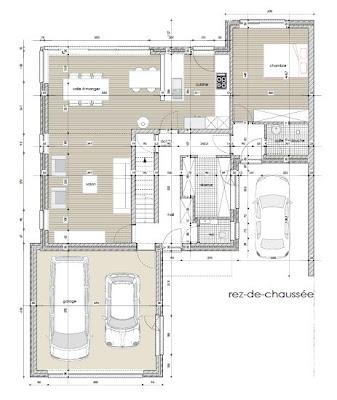 Plans la maison bioclimatique d 39 amandine et amaury - Plan maison bioclimatique ...