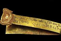 Inscription on gold strip (anglo-saxon treasure)