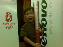 Evan and Olympic Torch