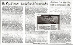Il Corriere di Gela ci dedica mezza pagina