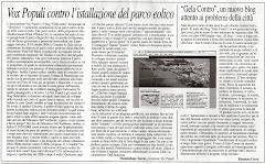 Il Corriere di Gela ci dedica mezza pagina