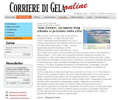 """Il Corriere di Gela """"accoglie"""" Gelacontro"""