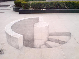 Amazing 3D Chalk Drawing Seen On www.coolpicturegallery.us