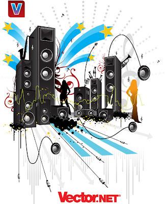 musica en vector