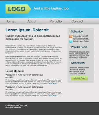 tutorial web psd