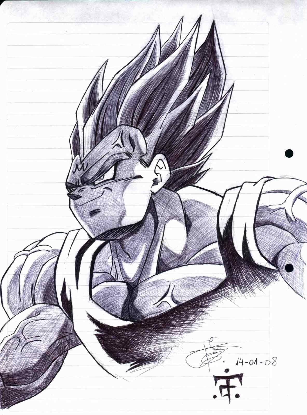 los mejores dibujos a mano de DragonBall-Z.