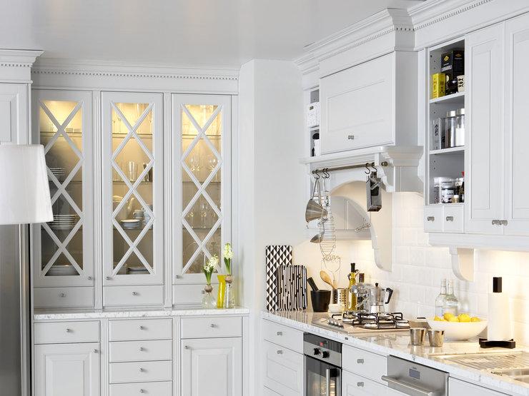 Kjøkkeninnredning - slike skapdører i glass med