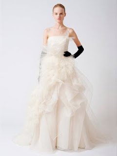 vera wang strapless wedding dresses
