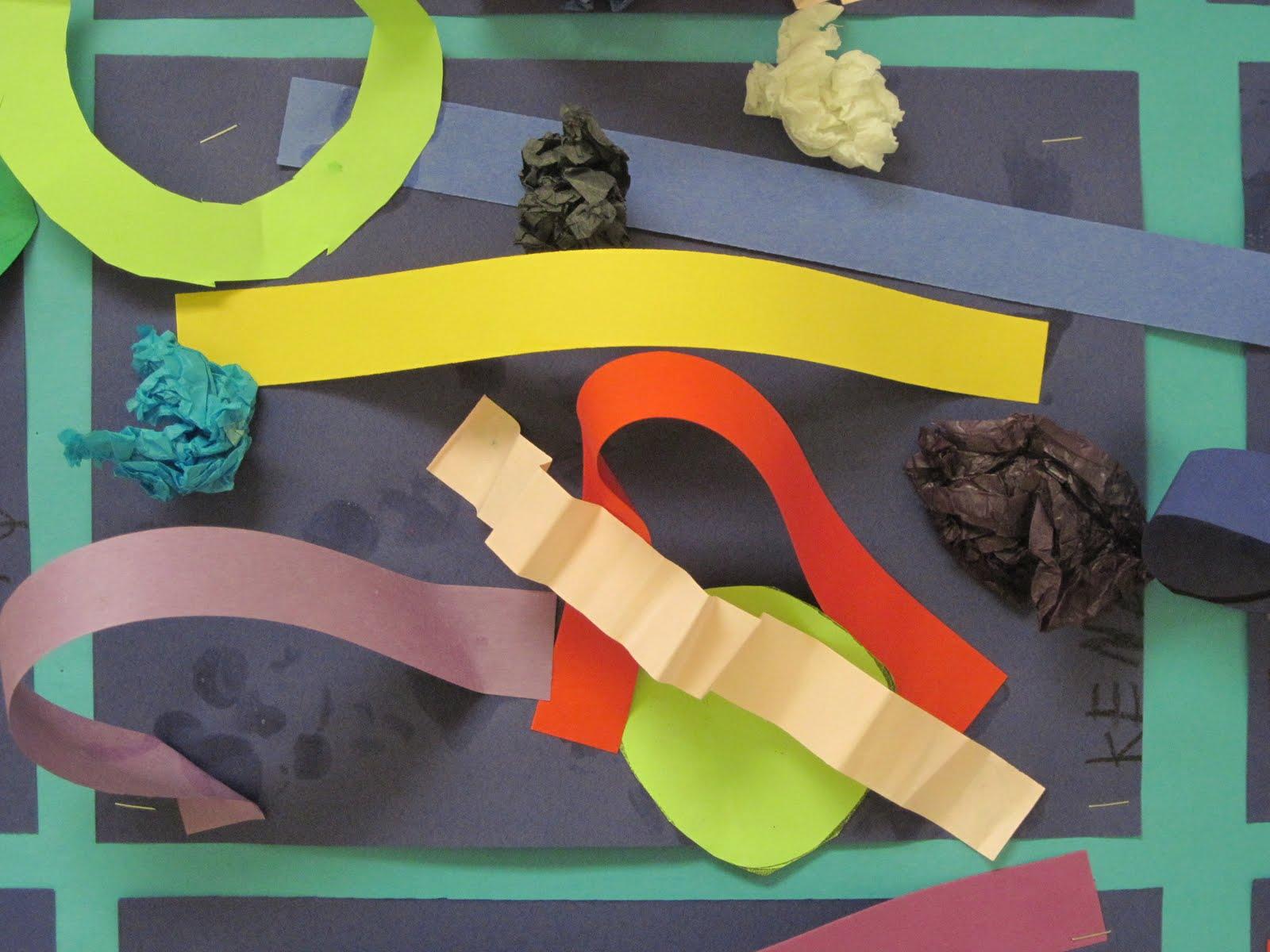 Line Art Lesson For Kindergarten : Lines dots and doodles paper sculptures kindergarten