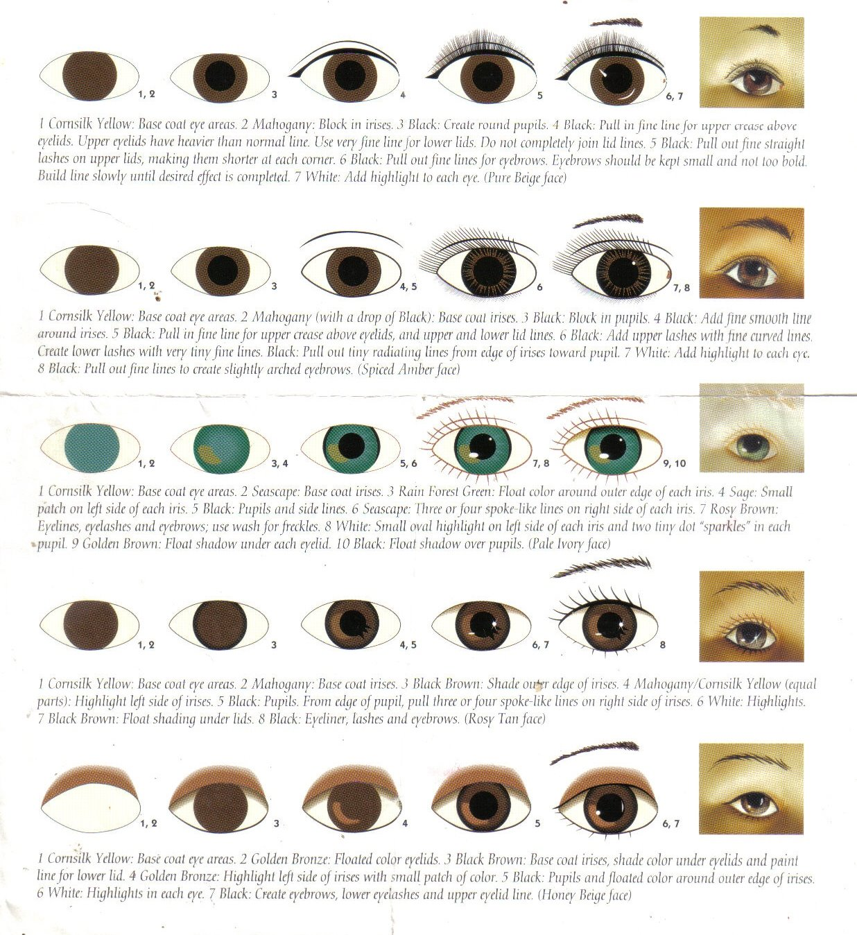 Как нарисовать глаза мастер класс