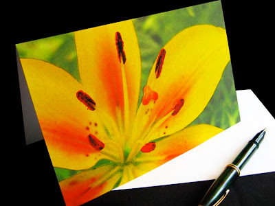 yellow lily notecard