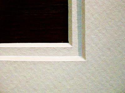 A close up of a matte corner.