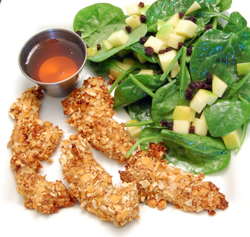 cheese yes please: Honey-Mustard Pretzel Crusted Chicken Tenders