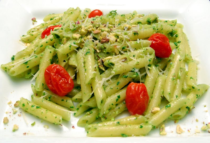 Basil Pesto On Penne Recipes — Dishmaps