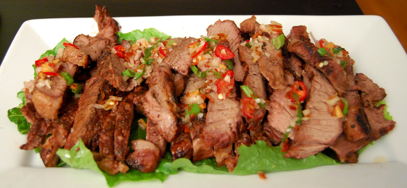 Crying Tiger (Thai-style Grilled Steak With Dry Chili Dipping Sauce ...