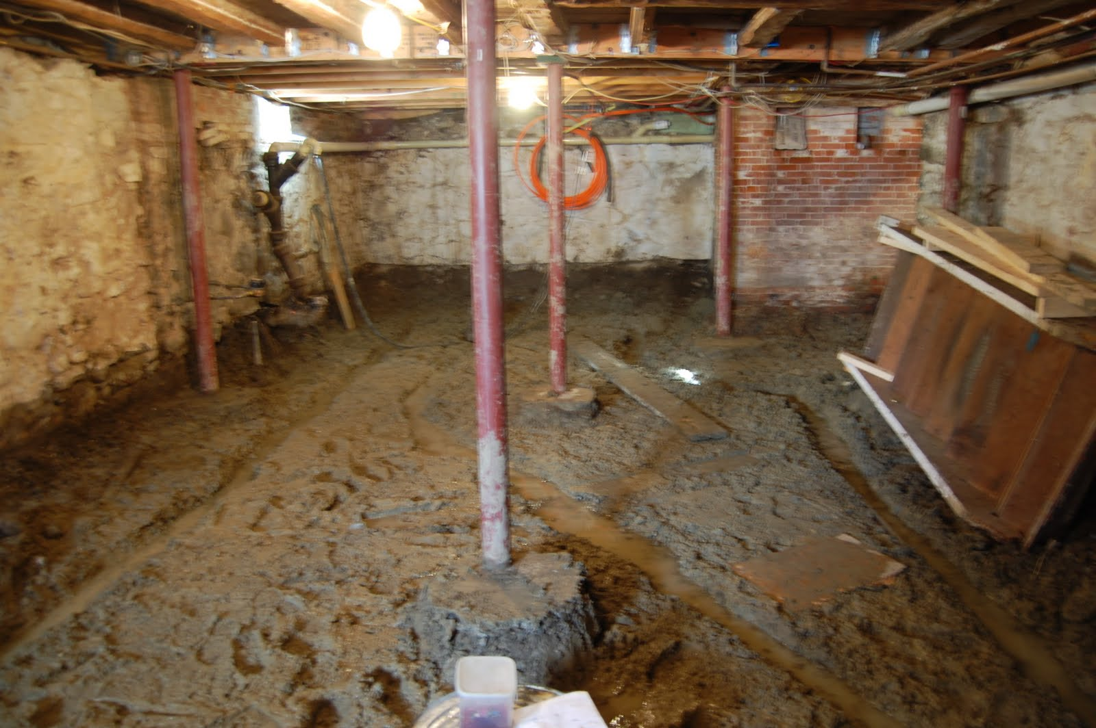 335 maplewood ave renovation basement digging complete