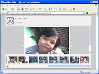 cara Membuat Web Photo Gallery dengan Photoshop cs 3, cs 4, cs 5, cs 6