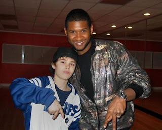 justin bieber and usher fotos