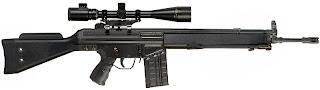 Fuzil de calibre 7.62x51 usada pelos policiais e traficantes