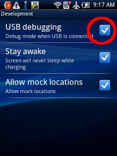 Screenshot Ponsel Android dari Ubuntu Device-droid3