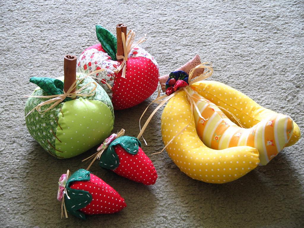 Шитье фрукты из ткани фото