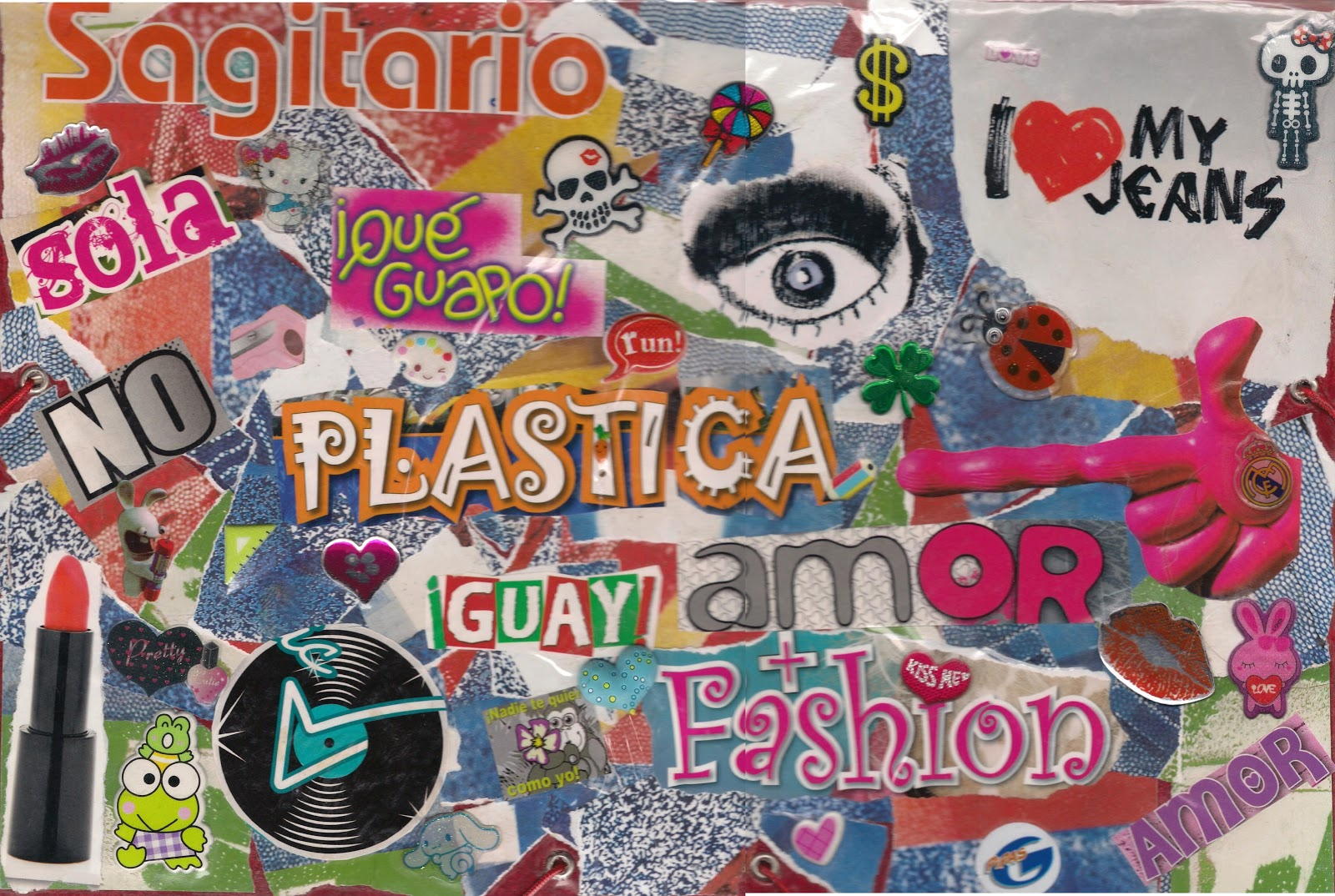 Bibi C 3º B. Collage para la carpeta de plástica