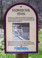 The historical marker where the Wildwood Park swimming pool lies buried.