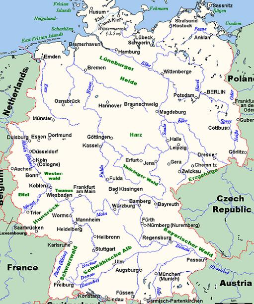 The Lost Fort The Romans In Germania A Geography Lesson - Germany map of rivers