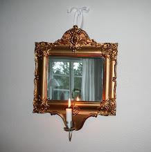 Antik spegellampett!