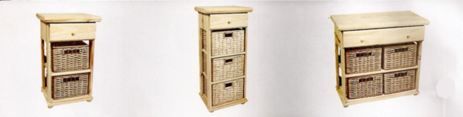 Hya muebles de pino pino y mimbre - Muebles de mimbre en ikea ...