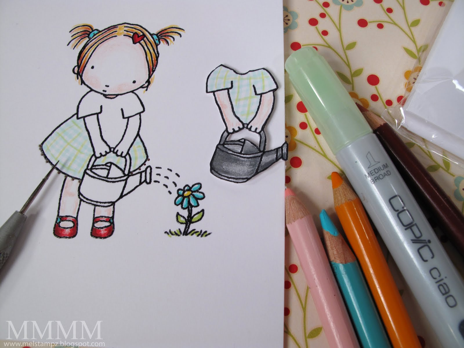 [A)+Stamp+colour+&+pierce+one+Pure+Innocence+Blooming+Good+Day+image.+Create+dimension+by+stamping+and+cutting+the+section+with+her+holding+the+watering+can.JPG]