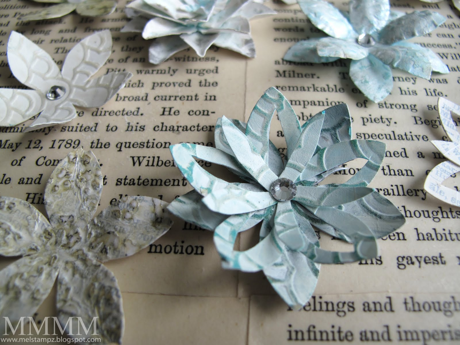 Mel Stampz A Couple Of Cutting Ideas For Paper Flowers