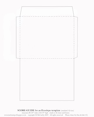 mel stampz new envelope templates standard a2 size two styles o. Black Bedroom Furniture Sets. Home Design Ideas