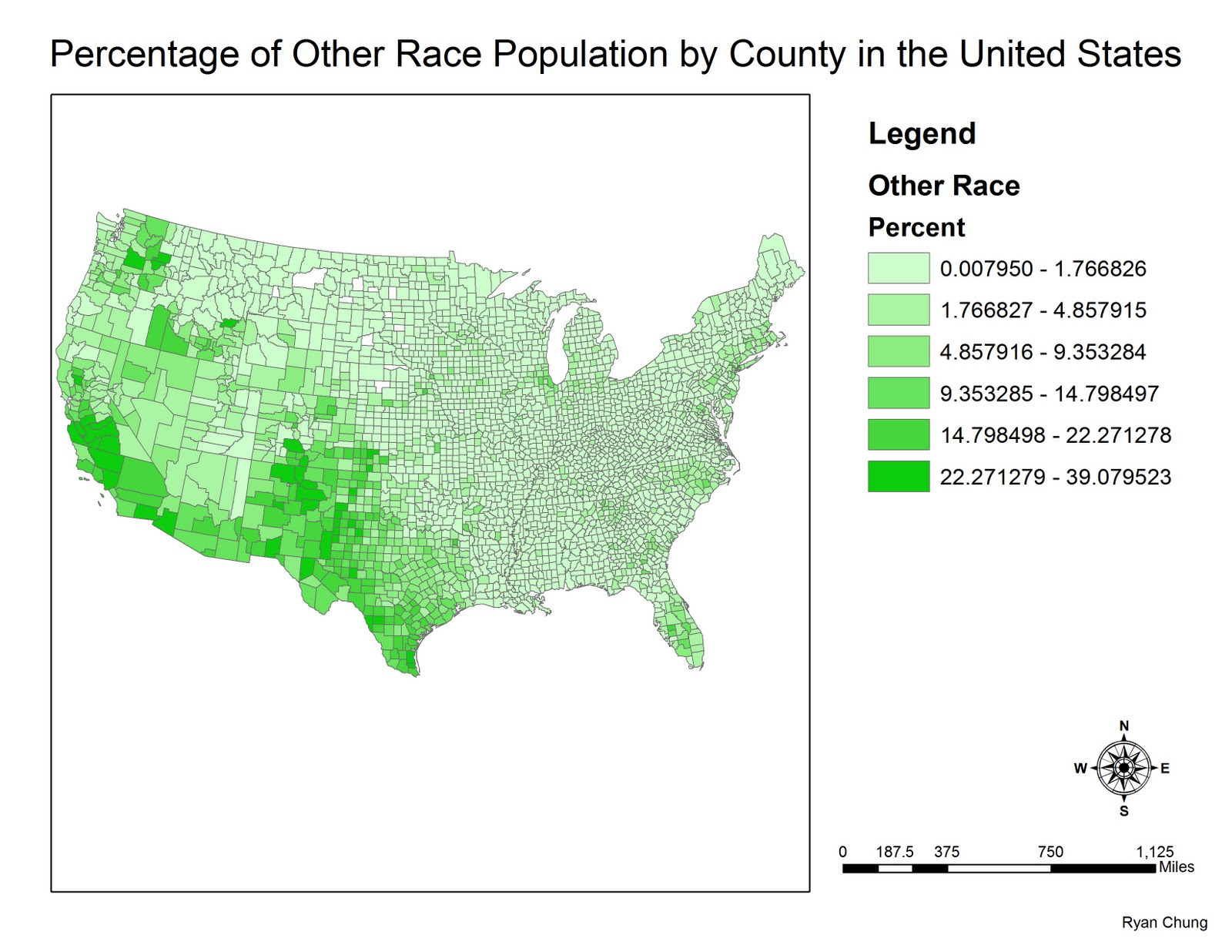 compared to the previous map the highest category represented ranges from 20 448128 to 46 038719 the us census