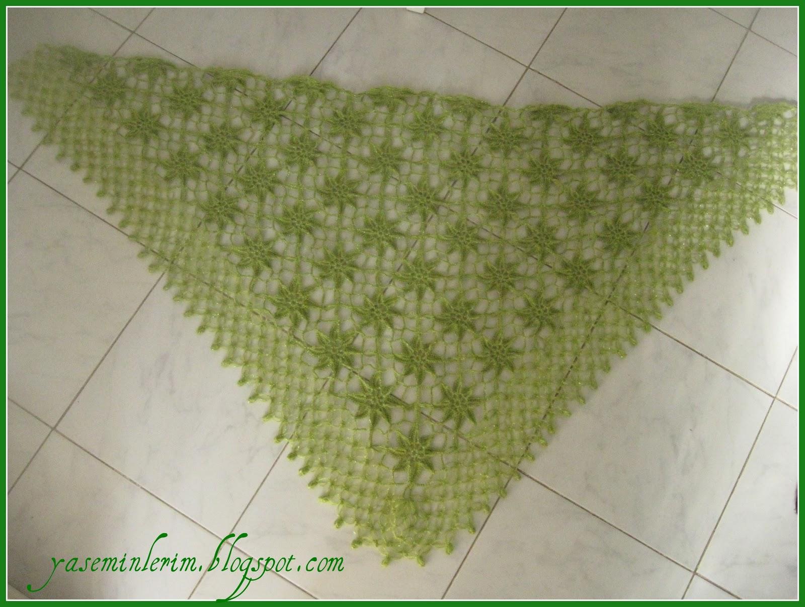 Yeşil şal örneği
